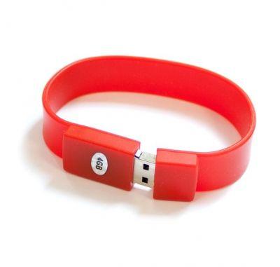 4GB USB-флэш накопитель Apexto U601A браслет красный