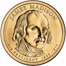1 доллар США 2007 год Серия Президентские доллары Джеймс Мэдисон