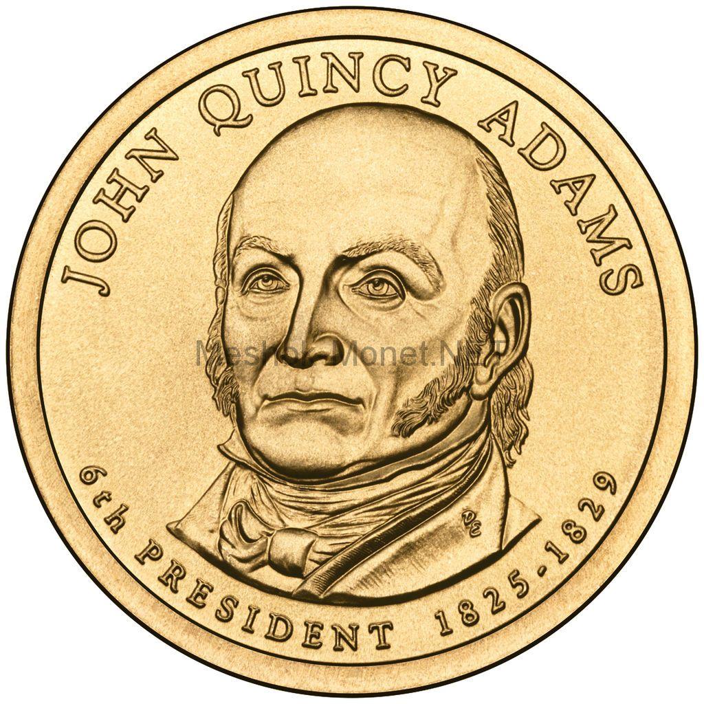 1 доллар США 2008 год Серия Президентские доллары Джон Куинси Адамс