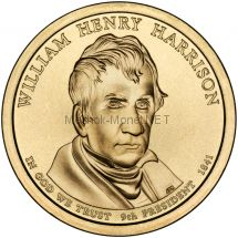 1 доллар США 2009 год Серия Президентские доллары Уильям Генри Гаррисон