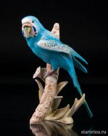 Волнистый попугай на ветке, Goebel, Германия, 1973., артикул 01080