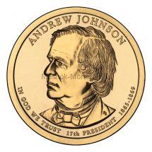 1 доллар США 2011 год Серия Президентские доллары Эндрю Джонсон