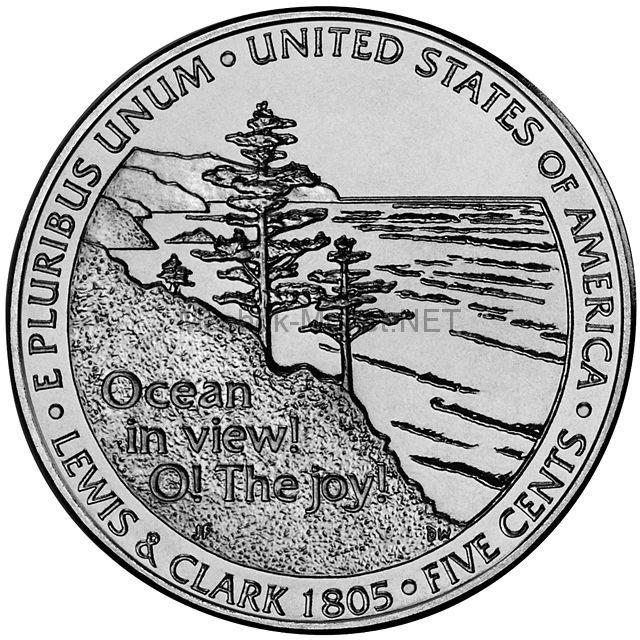 5 центов США Выход к океану