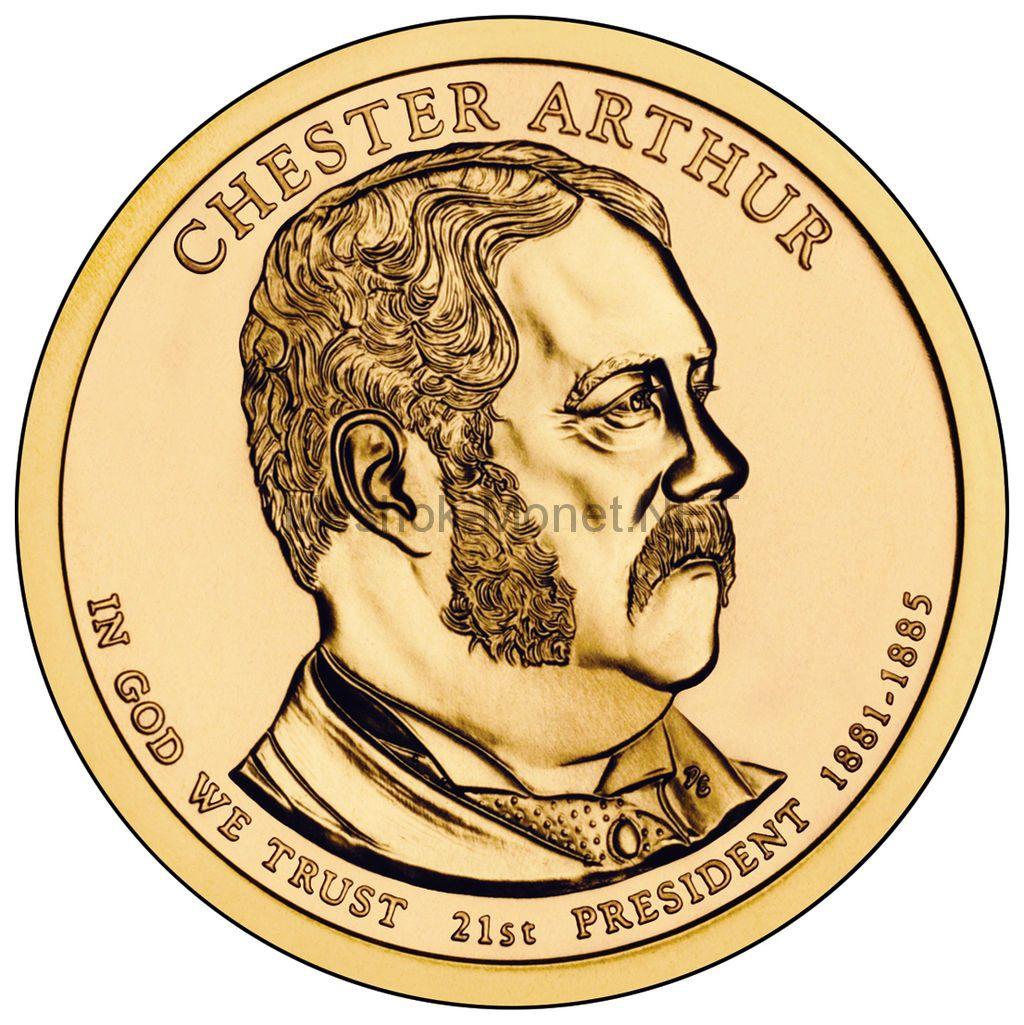 1 доллар США 2012 год Серия Президентские доллары Честер Артур