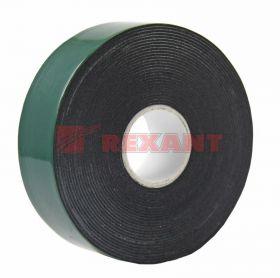 Двухсторонний скотч, зеленого цвета на черной основе, 25мм, 5метров REXANT