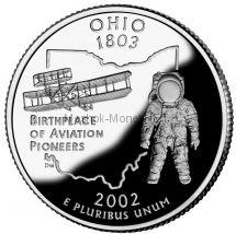 25 центов США 2002 штат Огайо