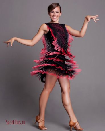 """Платье латина """"Ретро - спектр"""""""
