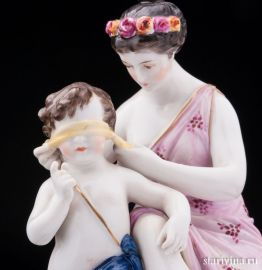 Амур и Венера, Volkstedt, Германия, кон. 19 века
