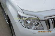 Реснички на переднею оптику для Toyota Land Cruiser Prado 150 2010