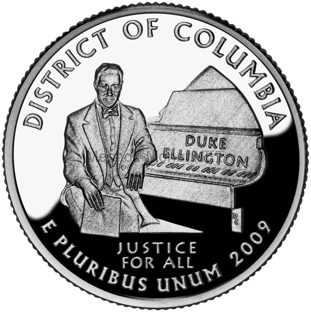25 центов США 2009 Округ Колумбия