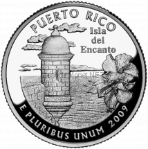 25 центов США 2009 Пуэрто-Рико