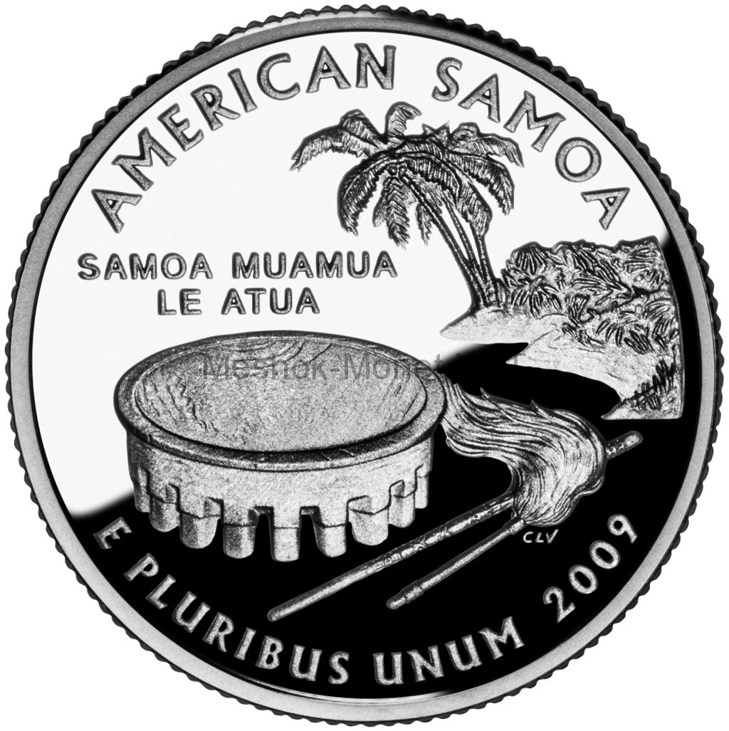 25 центов США 2009 Американское Самоа