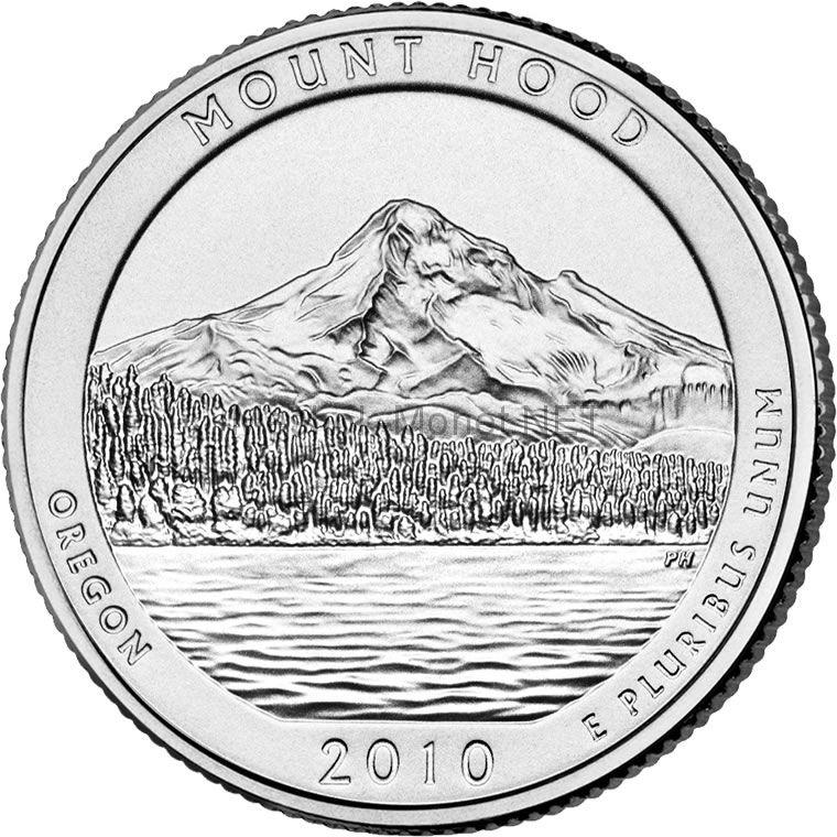 25 центов США 2010 Национальный лес Маунд Худ