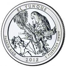 25 центов США 2012 Национальный лес Эль-Юнке