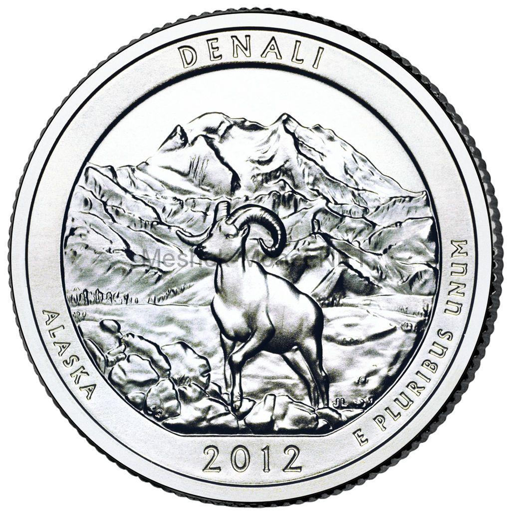 25 центов США 2012 Национальный парк Денали