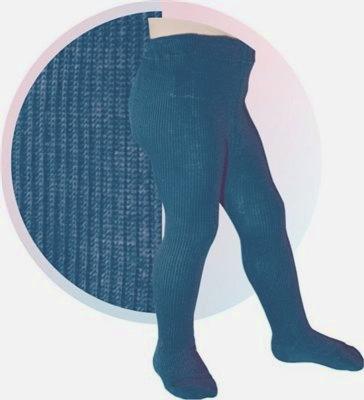 Колготки хлопковые цвета джинс