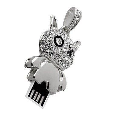 4GB USB-флэш накопитель Apexto UJ041 Чертик в стразах, серебряный
