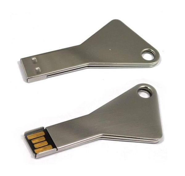 16GB USB-флэш накопитель Apexto UK-004 металлический ключ, серебряный