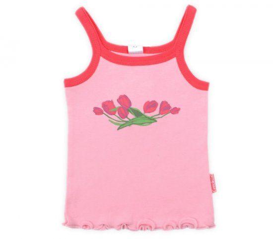 Майка розовая Тюльпаны