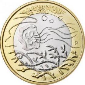 Подводный мир(Медуза) 5 евро Финляндия 2014 Серия «Северная природа» (Wilderness)