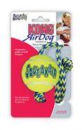 """KONG Air игрушка для собак """"Теннисный мяч"""" с канатом средний"""