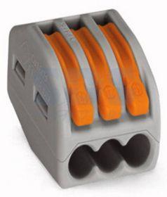 Универсальная многоразовая 3-проводная клемма (0,08-2,5 (4) мм²) 50шт.
