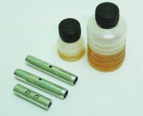 Ремкомплект для УЗК (клей, латунный наконечник, направляющая насадка, медный цилиндр)