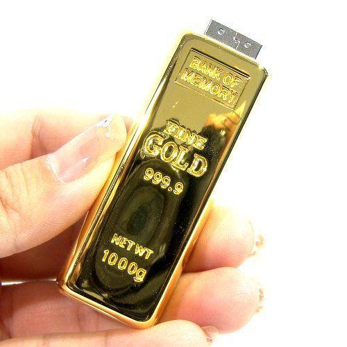 Флешка в форме золотого слитка