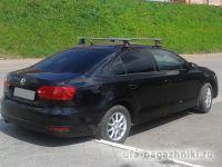 Багажник на крышу Volkswagen Jetta, Атлант, аэродинамические дуги