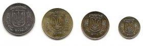 Набор разменных монет Украина 2013 из роллов 4 монеты