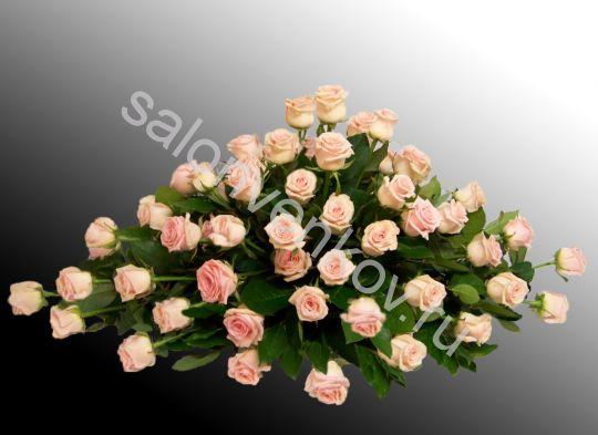 Траурная композиция из живых цветов N57