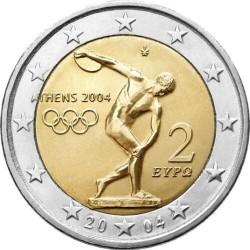 2 евро Греция 2004 Дискобол Афины 2004