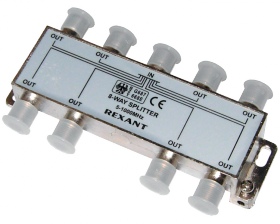 ДЕЛИТЕЛЬ ТВ х 8 под F разъём 5-1000 МГц REXANT