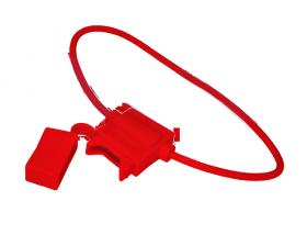 Держатель предохранителя прямоугольный красный REXANT