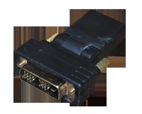 ПЕРЕХОДНИК шт.DVI-D - гн.HDMI поворотный GOLD REXANT