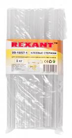 Клеевой стержень, d=11.3, L=270 мм прозрачный, t-85°C, вязкость 18.000Pa.s, 1кг REXANT