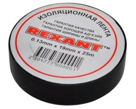 Изолента 19мм х 25м черная REXANT