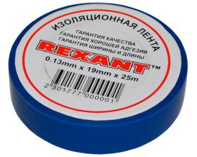 Изолента 19мм х 25м синяя REXANT