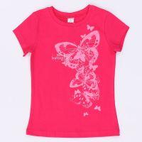 Детская розовая блуза Бабочка