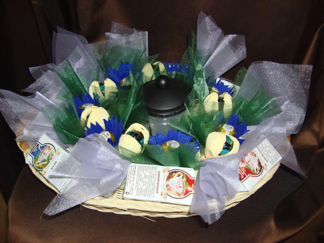 Васильковая Полянка - подарочный набор с чаем