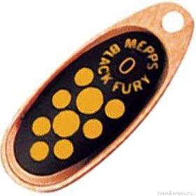 Купить Блесна Mepps Comet Black Fury цвет CU/JN / №4 9гр