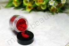 Кашемир для дизайна ногтей, цвет красный, большая баночка