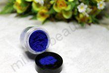 Кашемир для дизайна ногтей, цвет синий, большая баночка