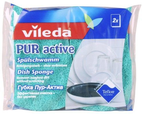 "Vileda Губка ""PUR Active"" для посуды, 2 шт."""