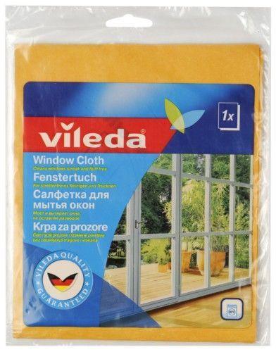 Vileda Салфетка для мытья окон и зеркал, 1 шт.