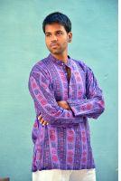 Мужская фиолетовая индийская рубашка с символом ОМ