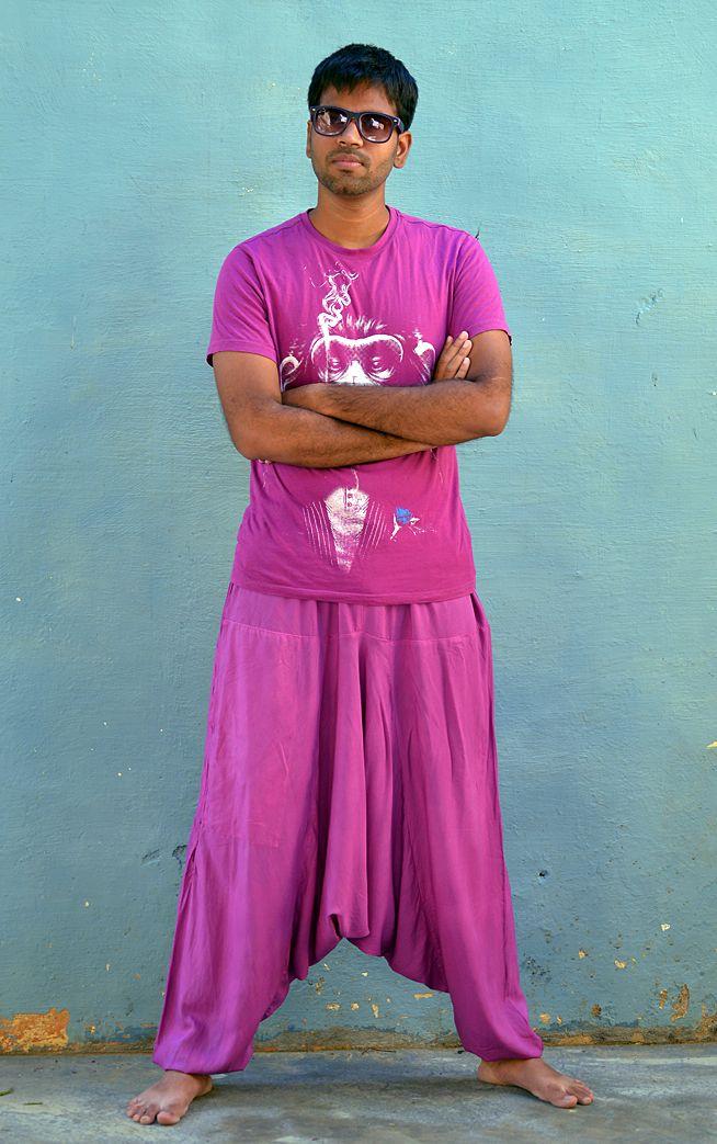 Лиловые афгани из вискозы (отправка из Индии)