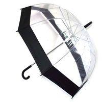 Зонт прозрачный (черный)