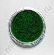 Кашемир для дизайна ногтей, Цвет зелёный, маленькая баночка