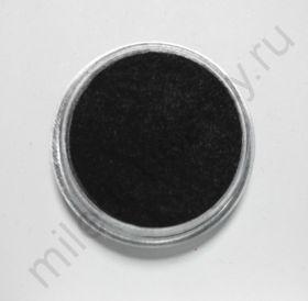 Кашемир для дизайна ногтей, Цвет чёрный, маленькая баночка